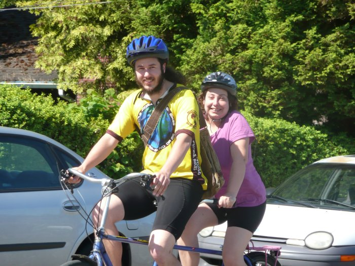 On our tandem bike ride in Seattle, WA.