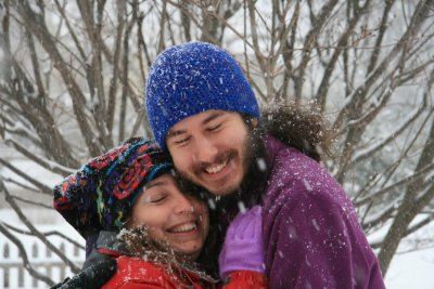 Jenny and Brett in the winter time