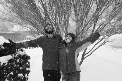 Jenny and Brett in the snow